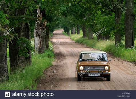 lada country lada 1200 combi 1978 driving on country road nera birini