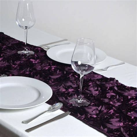 Eggplant Table Runners by Rosette Table Runners Eggplant Efavormart