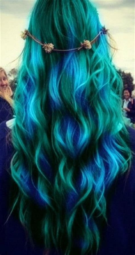 Blue And Hairstyles by Green And Blue Waves Hairstyles