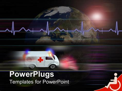 ambulance powerpoint template powerpoint template healthcare theme with