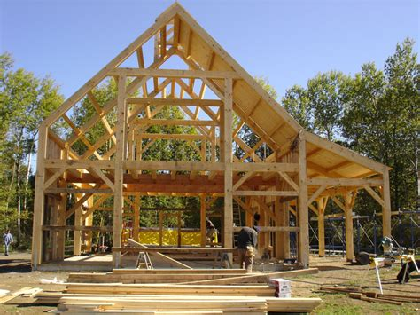 building a post and beam shed images