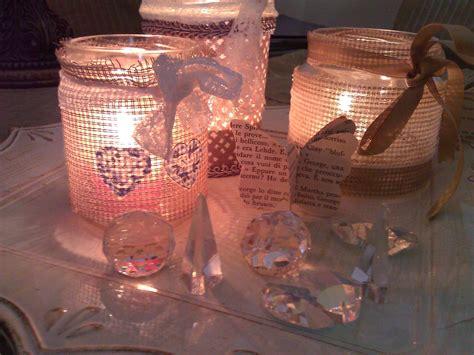 tutorial decoupage barattoli vetro carinissime questi porta candele shabby chic create con