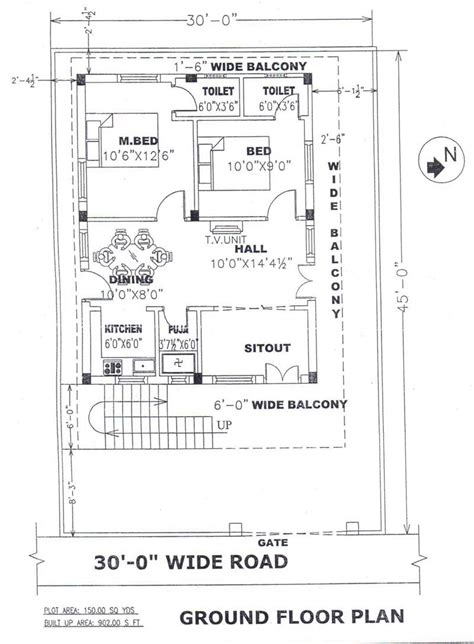 way2nirman 100 sq yds 18x50 sq ft south face house 2bhk 100 sq ft house plans hyderabad