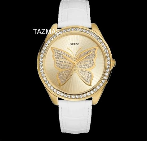 100 authentic guess butterfly white lather u85047l3