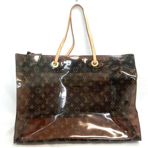 rise  louis vuitton monogram clear vinyl cabas cruise