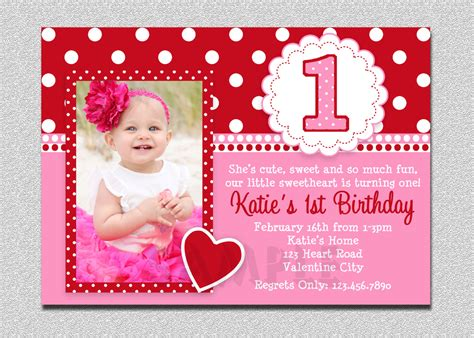 1st birthday invitation card free valentines birthday invitation 1st birthday valentines
