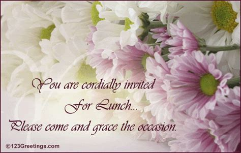 Invitation Card For Lunch