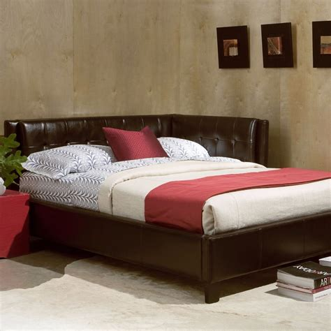 Daybed Bed Frame Size Bed Frame Tufted Upholstered Reversible Corner Daybed Furniture Home Ebay