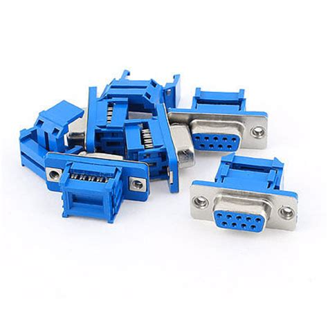 Idc Dsub Db 25 5pcs d sub db9 9 pin flat ribbon cable idc type adapter connector in connectors from home