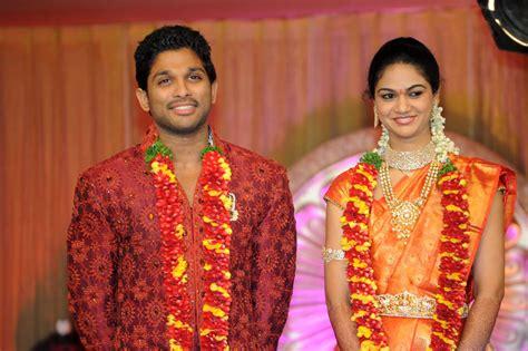 allu arjun wedding images allu arjun wedding reception photos pictures pics
