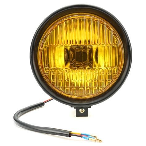 yellow light delivery service 5 75 motorcycle headlight light retro metal yellow len
