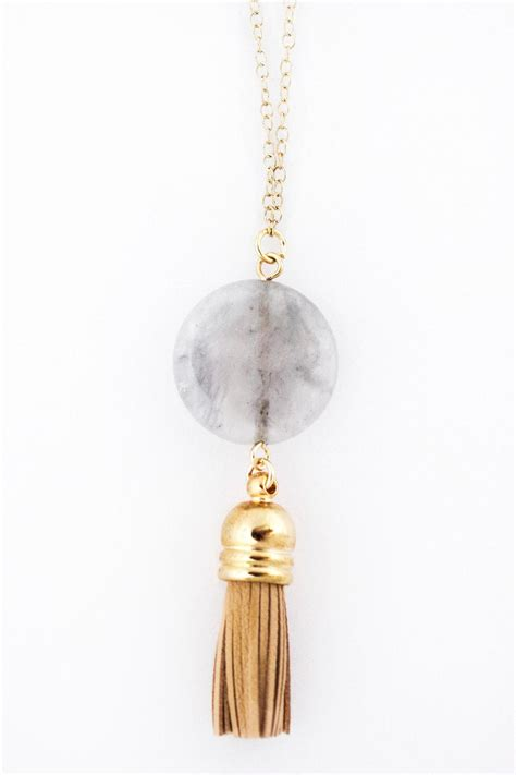 Tassel Mini mini tassel necklace from by frances shoptiques