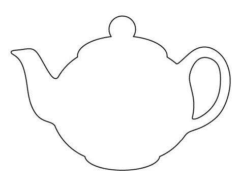 teapot pattern use the printable outline for crafts