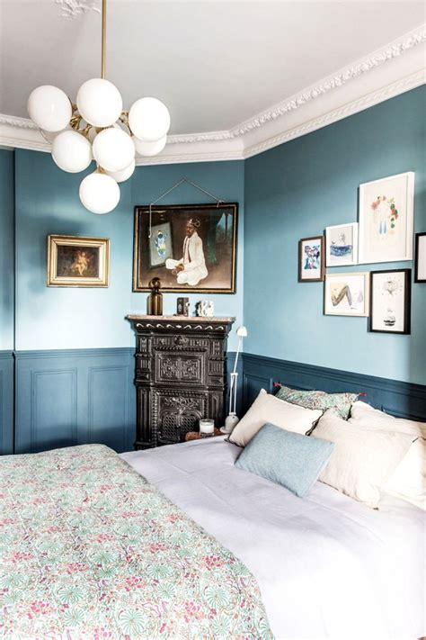 masculine bedroom colors moody blue masculine bedroom interiors by color