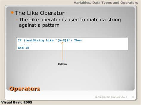 pattern matching vba meljun cortes visual basic 2005 02 programming fundamentals