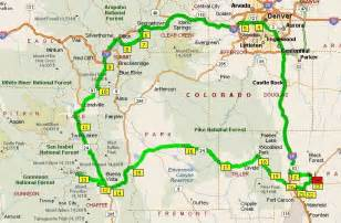 colorado mountain pass map denver to colorado