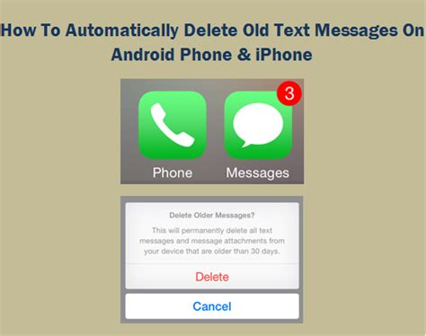 how to see deleted messages on android how to automatically delete text messages on android phone iphone
