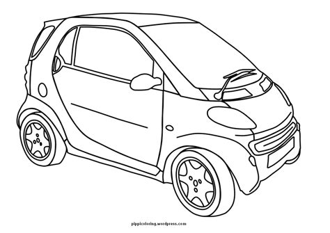 car coloring smart pippi s coloring pages
