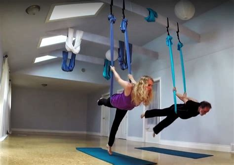 how to hang a yoga swing aerial yoga the best yoga swings and yoga trapeze