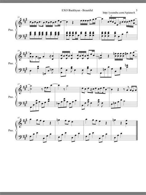exo ost exo 分享 150425 我的邻居是exo ost钢琴谱 idol新闻