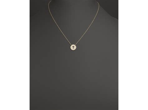 K D Kruwil Set Lala lyst basch 14k yellow gold cut out cross disc