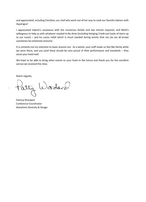 thank you letter to conference client client thank you letter radisson worldgate resort wdd