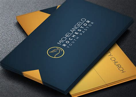 modern pastor business card template godserv market