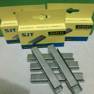 Isi Steples Tembak Lipro 6mm jual beli isi staples tembak 8mm 1000 pcs murah isi