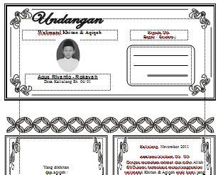 template undangan khitan word download undangan gratis desain undangan pernikahan