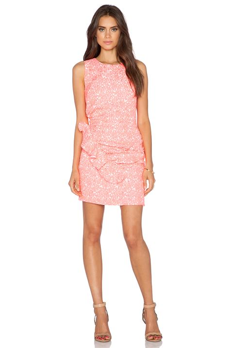 Salsa Dress Pink lyst dress gallery salsa dress in pink