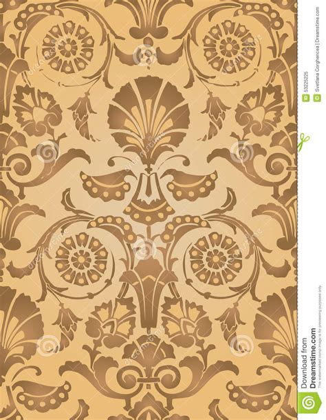 floral pattern in gold gold abstract floral pattern background stock vector