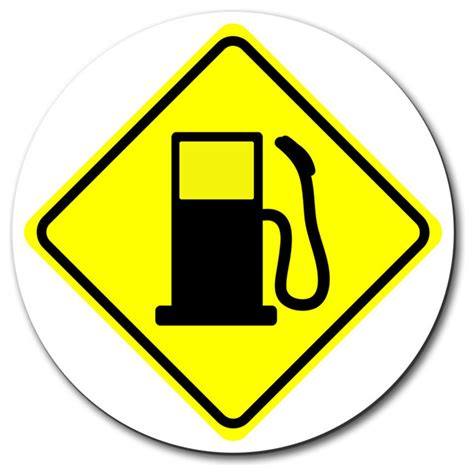 Basics Ahead by Gas Station Ahead Basic Yellow Road Sign Mouse Pad