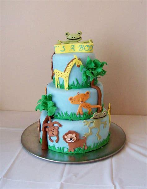 Safari Baby Shower Cake   CakeCentral.com