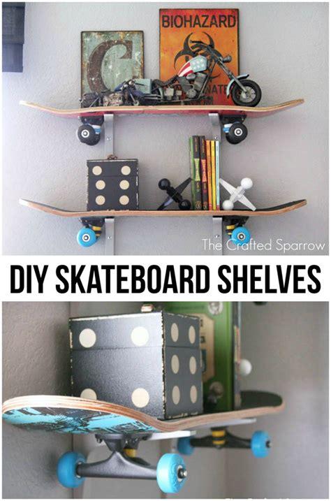 things to put on shelves diy skateboard shelves