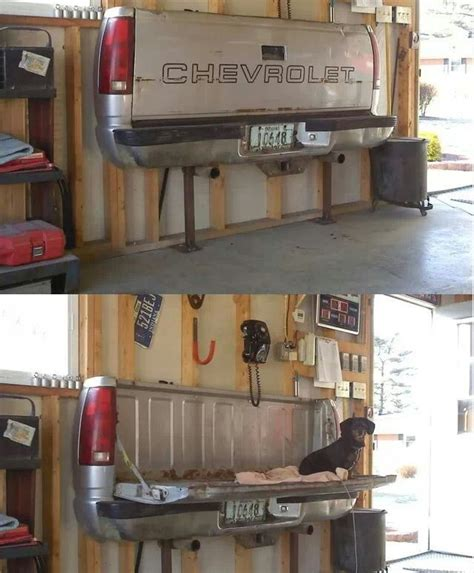 truck bed couch chevy tailgate seat or table for the shop idea truck