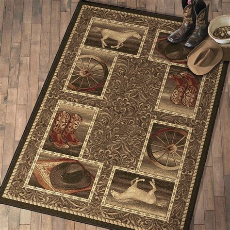 Western Bath Rugs western home rug collection