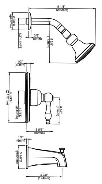 bathtub valve height pressure balancing shower valves and trim kits by danze