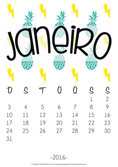 Calendario Janeiro Calend 225 Janeiro 2016