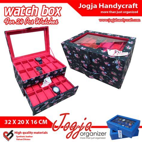 Tempat Jam Tangan Isi 12hitam Iner kotak jam tangan box jam tempat jam tangan isi 24 black floral