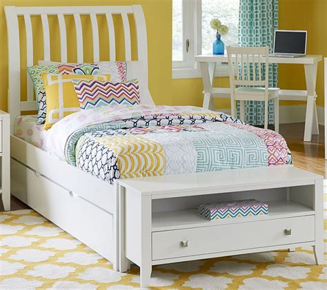 twin rake bed with 3 drawers and trundle pulse white rake twin sleigh bed with trundle from ne kids