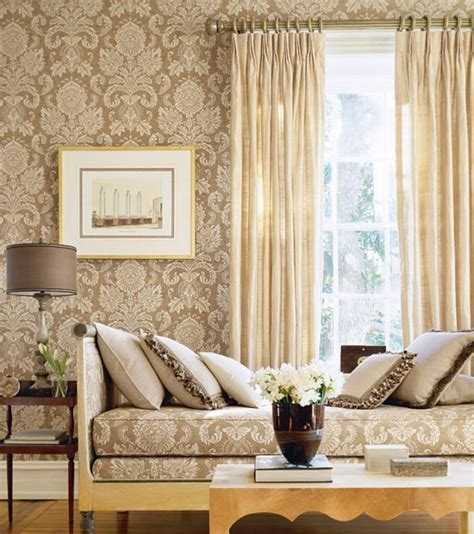 wall paper for room 30 and chic living rooms with damask wallpaper