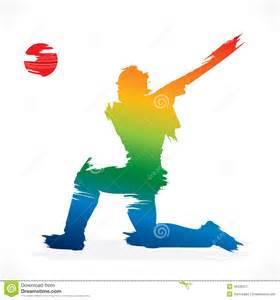 cricket player banner design stock vector image 49126227