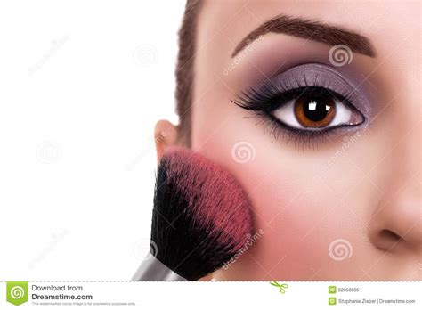 Brush Make Up By Ismartan by Make Up Blush Stock Photo Image 52856605