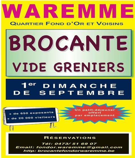 Brocantes Vide Greniers 04 by Brocantes De Belgique 04 09 2016 Brocante Vide