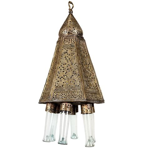 Turkish Chandeliers For Sale Antique Moorish Brass Turkish Palace Pendant For Sale At 1stdibs