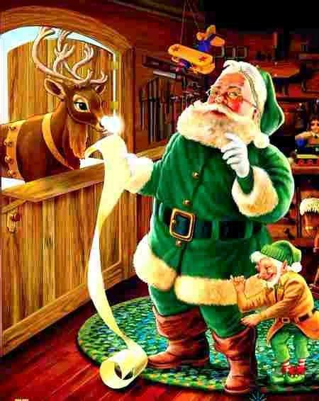 image result for santa claus green suit santa claus