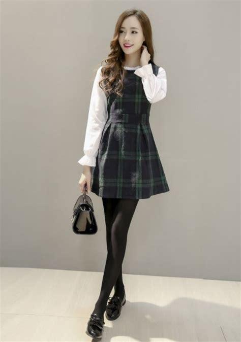 Mock Two Plaid Panel Dress 701 melhores imagens de yesstyle i skirts dresses no