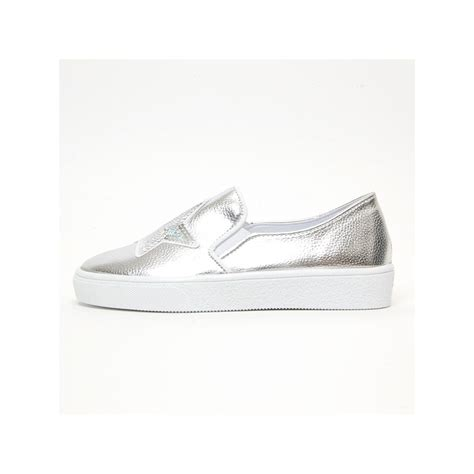 Sepatu Fashion Sneakers Semi Boots Platform Velcro Glitte 1 s white platform elastic band glitter silver spangle synthetic leather silver