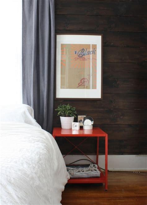 white wood wall bedroom walls shiplap paneled walls wood dark stained shiplap paneling accent wall love this