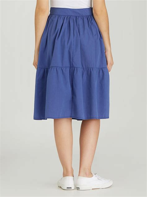 Tiered Midi Skirt tiered midi skirt blue edit skirts superbalist